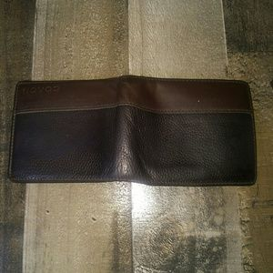 Vintage Coach bifold mens leather wallet